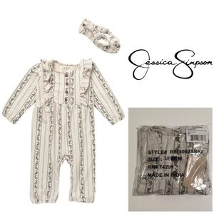 🆕JESSICA SIMPSON BABY - FLORAL JUMPSUIT 3-6M -NWT